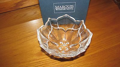 Marquis By Waterford Cut Crystal Rose Bowl-  Like Brand New In Original Box