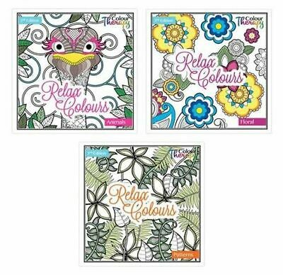 Adult Colouring Book Relaxing Mandala Floral Animal Therapy Art Craft  Hobby