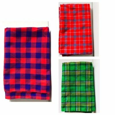 African Ethnic Tribal Kenya Masai Blanket Shuka Throw Shawl
