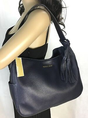 Michael Kors Ashbury Large Slouchy Leather Shoulder Bag Admiral Blue Nwt 83bf7d41649a3