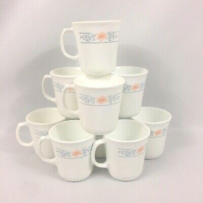 Set pf 9 Corning Ware APRICOT GROVE  Pattern Coffee / Tea cups/mugs