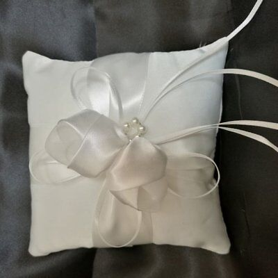 White Satin Ring Pillow Comfortable 20*20cm Finger Ring Cushion Party Supplies⚡⚡