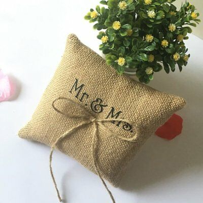 Bowknot Decorative Ring Pillow 15*15cm Finger Ring Cushion Party Supplies ♚⚡