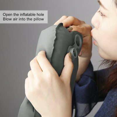 OUTAD TPU Ergonomic Neck Inflatable Air Pillow U-Shaped for Outdoor Travel ♚⚡