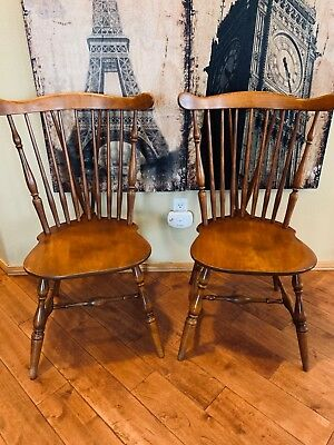 2 Beautiful VINTAGE Heywood Wakefield dining chairs #frenchcountry