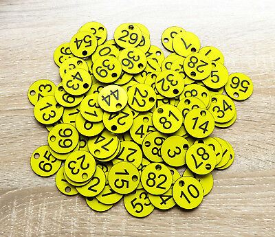 50 x 3cm Size, Custom Engraved Number Discs, Restaurant, Clubs, Tags, Locker