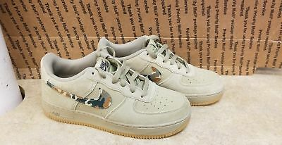 san francisco baadf 83d56 Nike Air Force One 1 Camo Olive Army Gum Bottom 596728 202 Size 7 (YOUTH