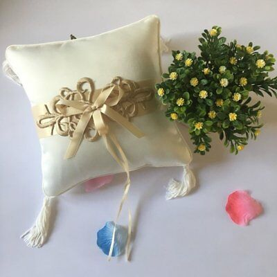 Chinese Knot Satin Wedding Ring Bearer Pillow 20*20cm Finger Ring Bridal Decor⚡⚡