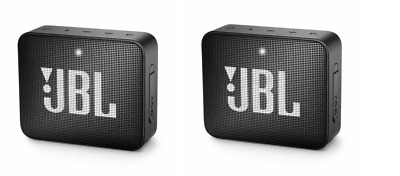 SET OF 2!! JBL Go 2 Portable Bluetooth Speaker - Black JBLGO2BLK