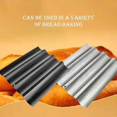 Non-stick French Bread Pans Loaf Baking Pan With Four Slots Wave Baguette Mold⚡⚡