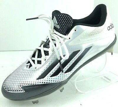 23dbee1c9c16 Adidas Adizero Afterburner 2.0 Mens Metal Baseball Cleats White Gray size 10