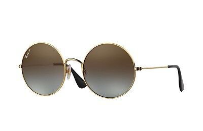 92cfd29872 Ray Ban POLARIZED Sunglasses RB3592 001 T5 55MM Gold Frame W  Brown Gradient