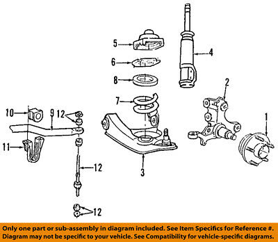 FORD OEM 94-04 Mustang Front Suspension-Hub & Bearing 1R3Z1104B