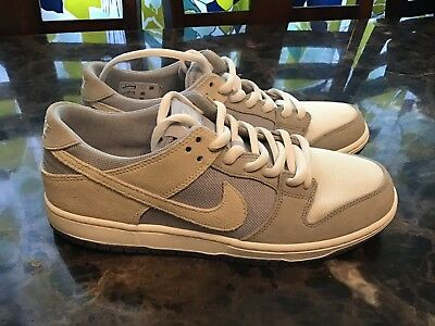another chance 09a35 87b33 Nike SB Zoom Dunk Low Pro Mens Sz 10 Wolf Grey Summit White Clear 854866 011