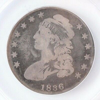 1836 Capped Bust Half Dollar Silver Coin - ANACS Good 6