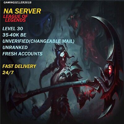 League Of Legends Account LOL Account 30 Level Unranked NA NO Mail Access