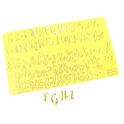Sweet Stamp Set of Upper & Lower Case Letters, Numbers & Symbols for Cookies