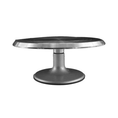 Rotating Cake Platform Stainless Steel Cake Swivel Plate With Silicone Base ♚⚡