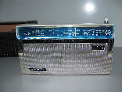 Rare Vintage Panda 3 Band 8 Transistor Radio Model B-802-1 Working