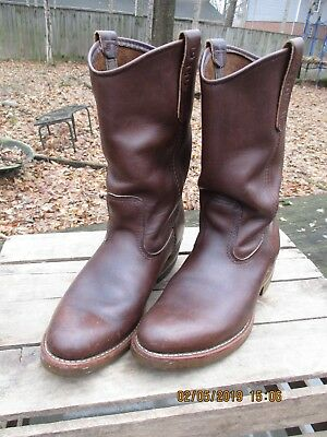f349b7134c4 VTG RED WING Pecos Nailseat Pull-On Cowboy Engineer Boots 1155 Mens Sz 6.5  D EUC