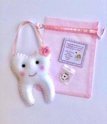 Tooth Fairy Pillows - Petites range- Available in Pink Purple and Blue