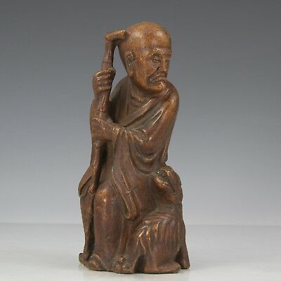 Chinese Exquisite Hand carved Buddha Luohan Carving Bamboo root statue