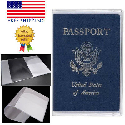 3X Clear Transparent Vinyl Passport Cover Thick Waterproof Excellent Quality