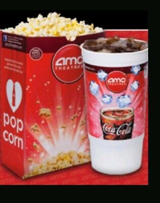AMC Theaters vouchers 1x Large Popcorn and 1x Large Drink