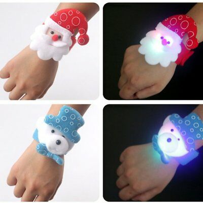 Christmas Decoration LED Band Light Clap Ring Light Up Wristband Best Gift ♚⚡