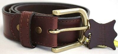 New Quality Genuine Full Grain Leather Belt Australian Seller. 42005. Brown.