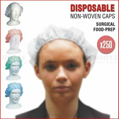 250x Disposable Surgical Caps Scrub Food Prep Hair Head Covers Hat Livingstone