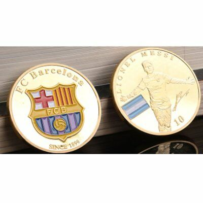 Barcelona Messi Pattern Exquisite Engraved Souvenir Gift Commemorative Coin ♚⚡