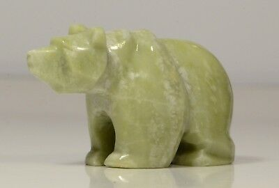 Ophicalcite Bear of Light Green Colour L~68mm Native Siberian Art ✧ GemFriend