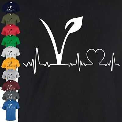Vegetarian Vegan Heart Hipster Tumblr Joke Lifeline Mens Youth Top T Shirt