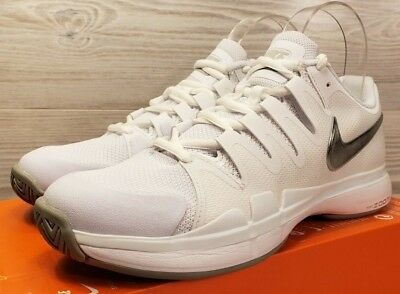 low priced d7987 58de1 Nike Women s Zoom Vapor 9.5 Tour White Metallic Silver Tennis 631475-101 Size  10