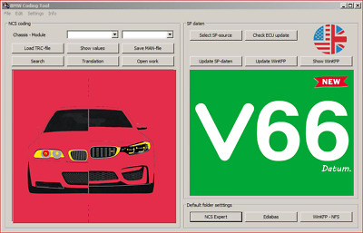 FOR INPA SP Daten Files Data For BMW V66 Ncs Expert For Winkfp 2018 Update