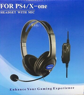 Cuffie Gaming Per Ps4 Pc Xbox One Auricolare Con Microfono E Controllo Volume