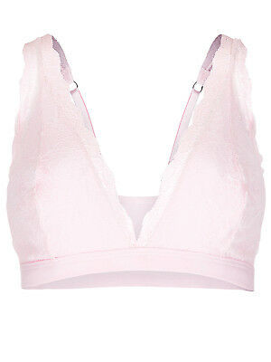 Maternity Bra Mothercare Blooming Marvellous Pink Non-Wired Lace Bra RRP£15 MED.