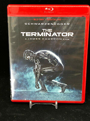 The Terminator (Blu-ray Disc, 2015) OOP Red Case Arnold Schwarzenegger Cameron