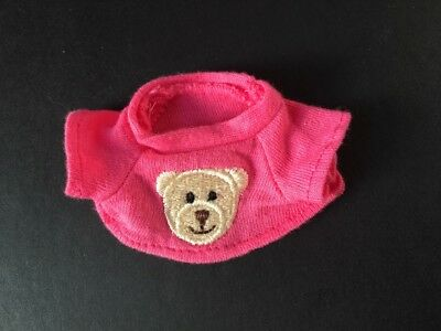 Hot pink crop top T-shirt embroidered teddy bear fit Sindy Barbie ShimmyShim
