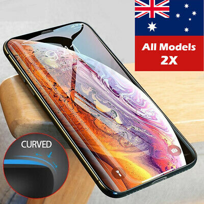 2 X Tempered Glass Screen Protector for iPhone X XR XS Max 8 7 6 Plus
