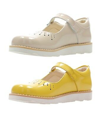 CLARKS Crown Jump T Girls Buckle Leather Shoes