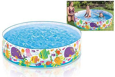Intex 6' Ocean Play Rigid Wall Snapset Kids Summer Garden Swim Paddling Pool Toy
