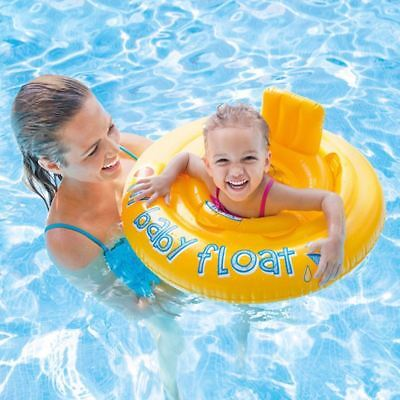 28'' Intex My Baby Float Swim Seat Support Inflatable Swimming Aid Ring Chair