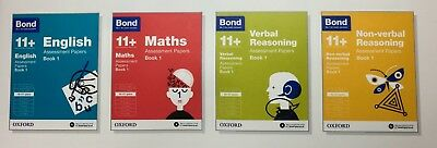 Bond 11+ Plus Assessment Papers for 10-11 Years 4 Books set English Maths BN UK