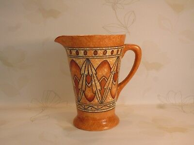 Crown Ducal Charlotte Rhead 'lotus Leaves' Floral Jug/pitcher C.1932 Patt. No. 2