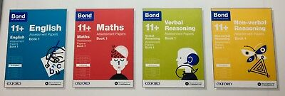 Bond 11+ Plus Assessment Papers English Maths Verbal Reasoning 9-10 Years 4books