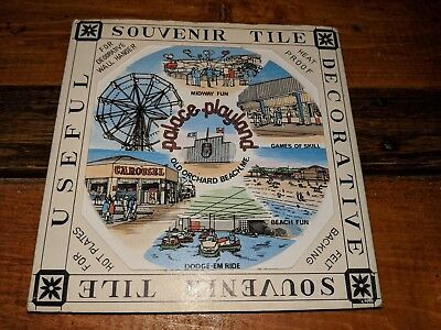 Old Orchard Souvenir Collectible Trivet Tile in original box Made in Japan 6x6