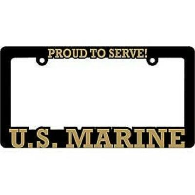 License Plate Frame MARINE CORPS-#8614R Polished ABS-PROUD TO SERVE//U.S