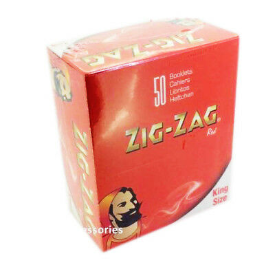 Zig Zag RED Tobacco Slim King Size Rolling Papers - 50x BOOKLETS (FULL BOX)